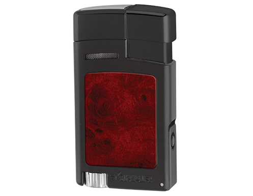 Xikar Forte Single Jet Cigar Lighter with Punch - Black & Burl