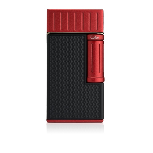 Colibri Julius Classic Double-flame Cigar Lighter - Black & Red Lid