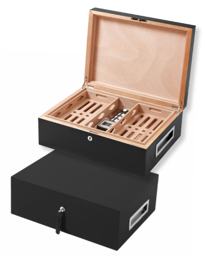 Cigar Humidor - Villa Spa Black
