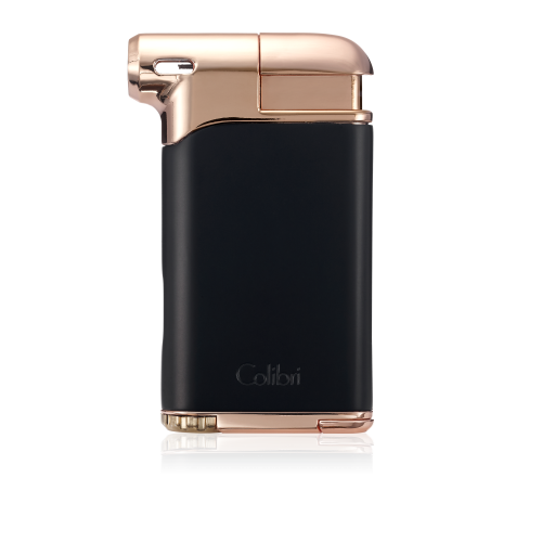 Colibri Pacific Air Single Soft Flame Lighter - Black & Rose