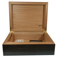 Jemar Indian Collection Black Textured Humidor - 70 Cigar Capacity - CHRISTMAS GIFT