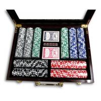 Casino Quality Full Size Poker Set - Brand New in Box - Glass Top Lid