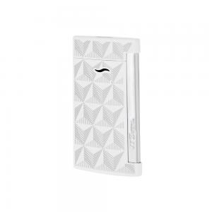 ST Dupont Slim 7 - Flat Flame Torch Lighter - Firehead White