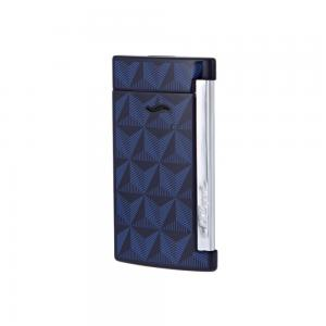 ST Dupont Slim 7 - Flat Flame Torch Lighter - Firehead Blue