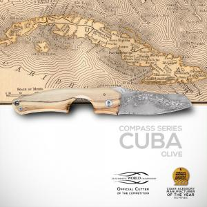 Les Fines Lames Le Petit - The Cigar Pocket Knife - Compass Series Cuba Olive