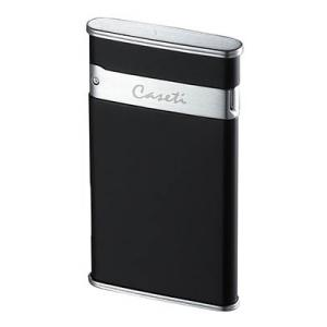 Caseti Slim Full Cap Jet Flame Lighter - Matt Black & Chrome Satin (End of Line)
