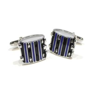 Blue & Black Drums Cufflinks