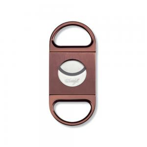 Davidoff Double Blade Cigar Cutter - Brown