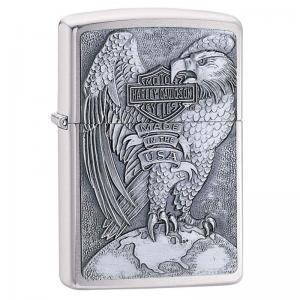 Zippo - Harley Davidson Made in the USA Eagle & Globe Emblem - Windproof Lighter