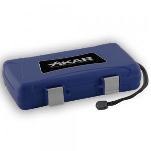 Xikar Travel Waterproof Case Blue - 5 Cigar Capacity