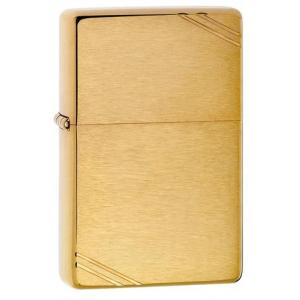 Zippo - Brushed Brass Vintage with Slashes - Windproof Lighter
