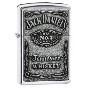 JANUARY SALE - Zippo - Jack Daniels Pewter Emblem - Windproof Lighter