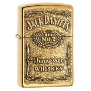 JANUARY SALE - Zippo - Jack Daniels Brass Emblem - Windproof Lighter