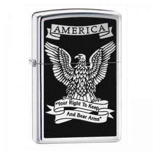 Zippo - Black and White Americana Eagle - Windproof Lighter
