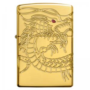 Zippo - Armor Gold Plated Chinese Dragon - Windproof Lighter