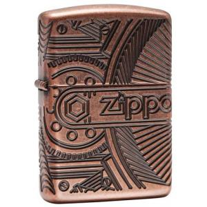Zippo - Armor Antique Copper Gears - Windproof Lighter