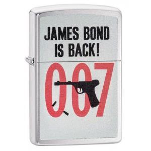 Zippo - Brushed Chrome James Bond is Back 007 - Windproof Lighter