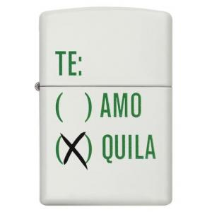 Christmas Gift - Zippo - White Matte Tequila Design - Windproof Lighter