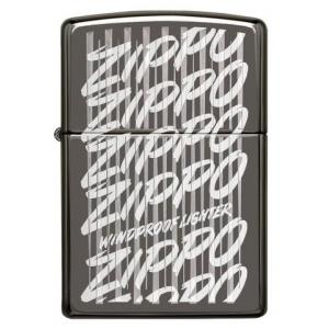 Zippo - Black Ice Script - Windproof Lighter