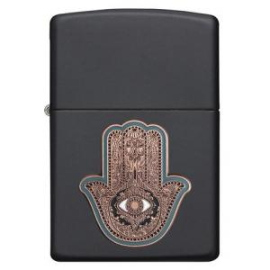 Zippo - Black Matte Hamsa Hand - Windproof Lighter