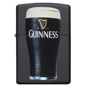 JANUARY SALE - Zippo - Black Matte Guinness Pint Glass - Windproof Lighter