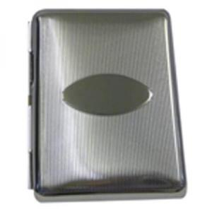 Small Chrome Line/Oval DS KS12 Cigarette Case