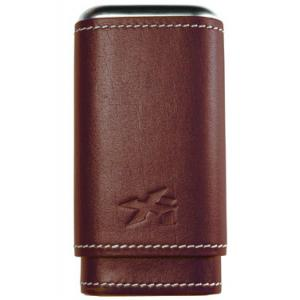 Xikar Leather Cigar Case - 3 Cigars - Brown - BLACK FRIDAY