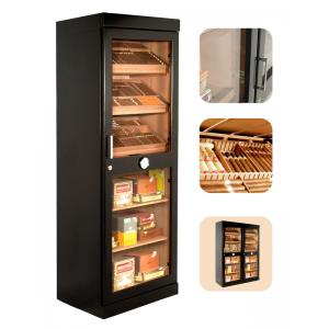 JANUARY SALE - Adorini Roma Black Deluxe Cigar Humidor Cabinet - 3100 Cigar Capacitiy