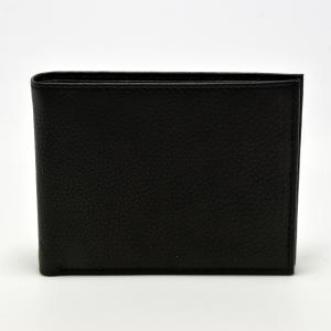 Black Leather Wallet with Credit Card & Coin Holder