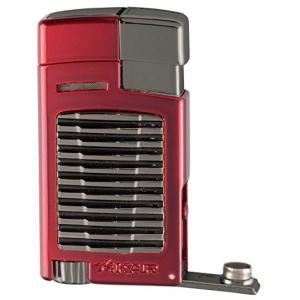 Xikar Forte Single Jet Cigar Lighter with Punch - Daytona Red