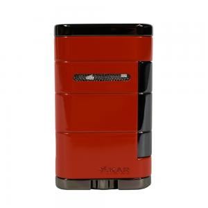 Xikar Allume Twin Double Jet Lighter - Red