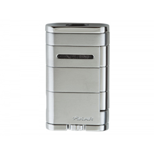 Xikar Allume Twin Double Jet Lighter - Silver