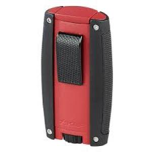 Xikar Turismo Double Jet Lighter - Matte Red