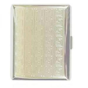 Silver Cross Pattern Cigarette Case