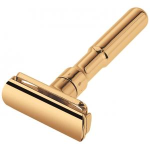 Merkur Razor with Duoclip & Adjustable Blade System Gold Plated