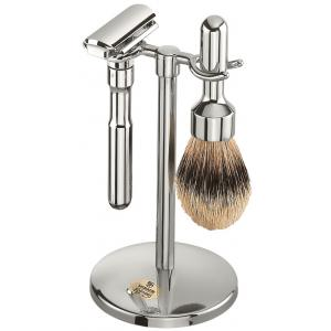 Merkur Shaving Set 3 Pieces Chrome-Plated - Polished