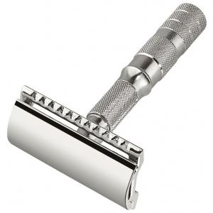 Merkur In Leather Case Travel Razor - Straight Cut