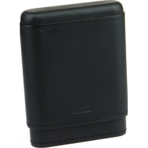 Adorini Leather Black Cigar Case - 3/5 Cigar Capacity
