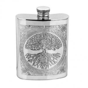6oz Pewter Hip Flask - CEL601