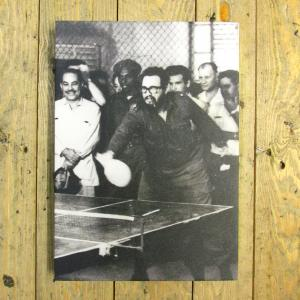 Exclusive - Fidel Playing Table Tennis Canvas
