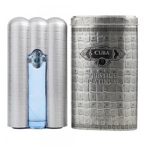 Cuba Prestige Platinum Eau de Toilette Spray for Him Aftershave 90 ml