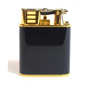 Dunhill - Unique Turbo Black Lacquer, Silver & Gold Plated Lighter