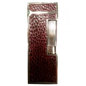 Dunhill Rollagas Lighter - Red Ostrich Foot Palladium Plated