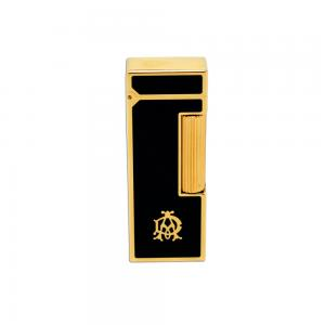 Dunhill Rollagas Lighter - Black Lacquer, Gold Plated Frame