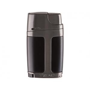 Xikar Element ELX Twin Jet Lighter with Punch Cutter - Black & Gunmetal