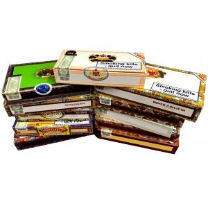 Empty Cigar Box Lucky Dip Selection - 10 Boxes - Small/Medium