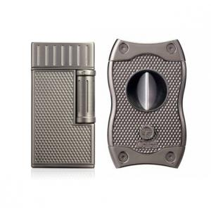 Colibri Julius Lighter & SV Cutter Set - Gunmetal