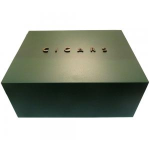 Gentili Embossed Cigar Humidor -  Matt Green Finish - 50 cigars capacity