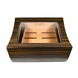 SLIGHT SECONDS - Gentili Cigar Humidor - Macassar Ebony - 50 cigars capacity