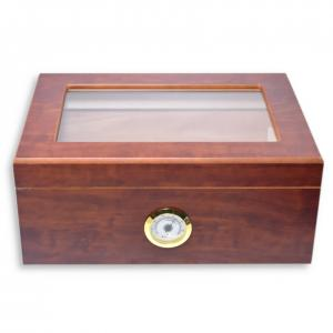 Angelo Matte Brown Liverpool Humidor - 40 Cigar Capacity